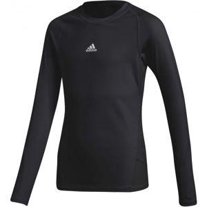 adidas ASK LS TEE Y čierna 128 - Detské tričko