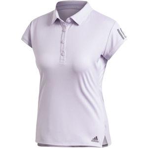 adidas CLUB 3 STRIPES POLO fialová XL - Dámske tenisové tričko
