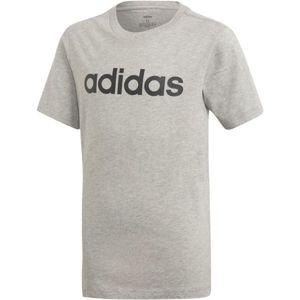 adidas YB E LIN TEE sivá 164 - Chlapčenské tričko