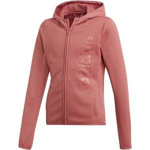 adidas YOUTH GIRLS GEAR UP FULL ZIP HOODIE ružová 140 - Dievčenská mikina