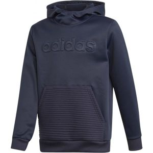 adidas YOUTH BOYS GEAR UP OVER THE HEAD HOODY tmavo modrá 140 - Chlapčenská mikina