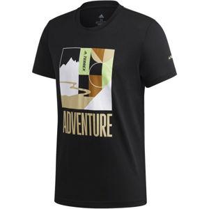 adidas TX ADVENTURE T čierna L - Pánske outdoorové tričko