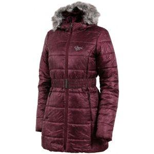 ALPINE PRO TRIBECA vínová S - Dámsky kabát
