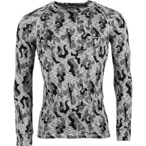 Arcore ERNO šedá XXL - Pánske termo tričko s dlhým rukávom