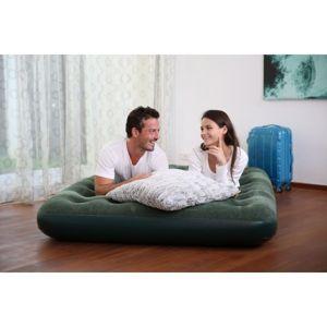 Bestway FLOCKED AIR BED GN tmavo zelená  - Nafukovací matrac