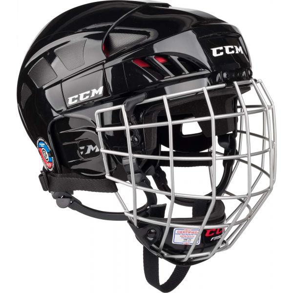 CCM FITLITE 50 COMBO SR BLK  M - Hokejová prilba
