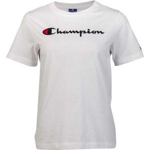 Champion CREWNECK T-SHIRT biela M - Dámske tričko