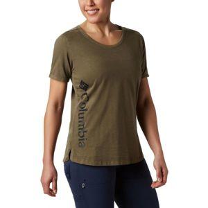 Columbia CSC W PIGMENT TEE zelená S - Dámske tričko