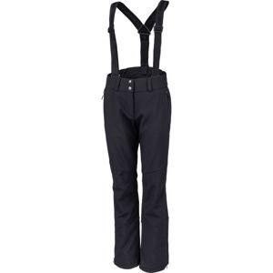 Hannah KENTA čierna 34 - Dámske lyžiarske softshellové nohavice