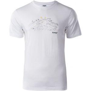 Hi-Tec NERET biela L - Pánske tričko