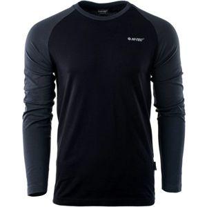 Hi-Tec PURO LS čierna XL - Pánske tričko s dlhým rukávom