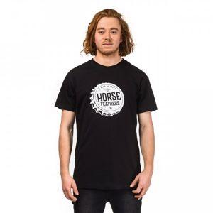 Horsefeathers HELMET T-SHIRT čierna S - Pánske tričko