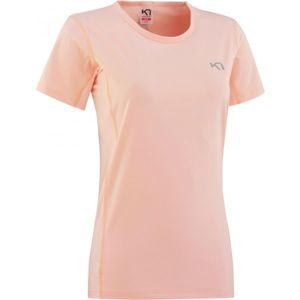 KARI TRAA NORA TEE svetlo ružová XS - Dámske športové tričko