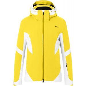 Kjus WOMEN LAINA JACKET žltá 36 - Dámska lyžiarska bunda