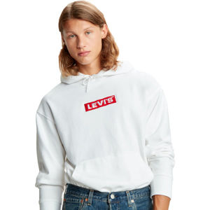 Levi's RELAXED GRAPHIC HOODIE biela L - Pánska mikina