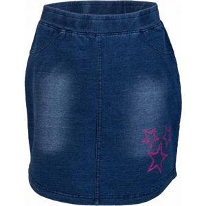 Lewro UMINA tmavo modrá 164-170 - Dievčenská sukňa s džínsovým vzhľadom