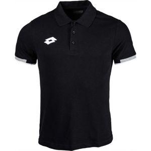 Lotto POLO DELTA čierna XL - Pánske tričko polo