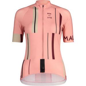 Maloja PURAM 1/2 ružová XL - Dámsky cyklistický dres