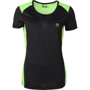 Mico W HALF SLVS R/NECK SHIRT RUN zelená M - Dámske bežecké tričko