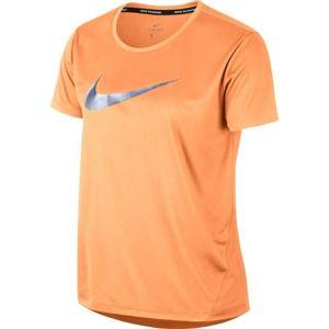 Nike MILER TOP SS HBR1 oranžová S - Dámske tričko
