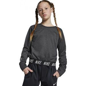 Nike STUDIO REVERSIBLE PO šedá L - Dievčenská tréningová mikina