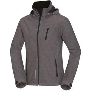 Northfinder FRASCO šedá XXL - Pánska softshellová bunda