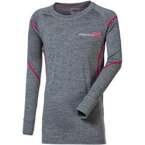 Progress MERINO LS-G  164-170 - Dievčenské funkčné Merino tričko