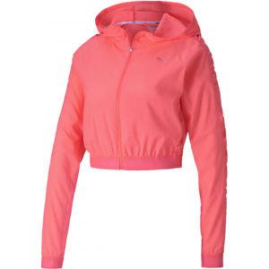 Puma BE BOLD WOVEN JACKET ružová M - Dámska športová bunda