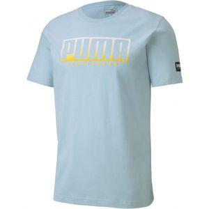 Puma ATHLETIC TEE BIG LOGO modrá XL - pánske športové tričko