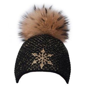 R-JET TOP FASHION EXCLUSIVE čierna UNI - Dámska pletená čiapka