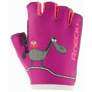 Roeckl TORO ružová 5 - Detské cyklistické rukavice