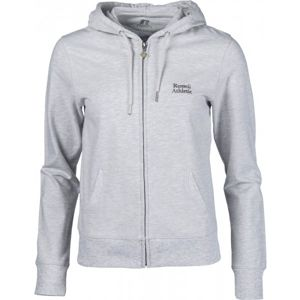 Russell Athletic ZIP THROUGH HOODY WITH SILVER PRINT sivá L - Dámska mikina