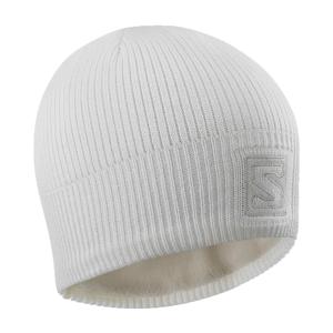 Salomon LOGO BEANIE biela UNI - Zimná čiapka