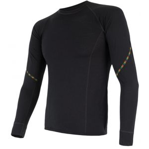 Sensor MERINO AIR čierna S - Pánske funkčné tričko