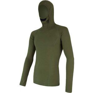 Sensor MERINO DF zelená L - Pánske funkčné tričko