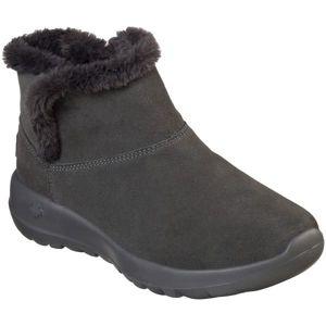 Skechers ON THE GO JOY BUMDLE UP tmavo šedá 41 - Dámska zimná obuv