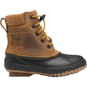 Sorel YOUTH CHEYANNE II VEG  6 - Chlapčenská zimná obuv
