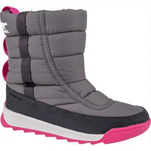 Sorel YOUTH WHITNEY II PUFFY M sivá 12.5 - Detská unisex zimná obuv