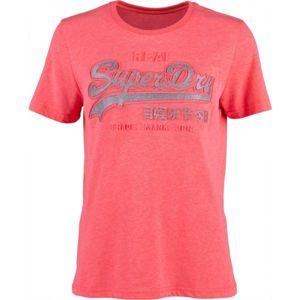 Superdry PINK LOGO ružová 14 - Dámske tričko