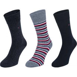 Tommy Hilfiger SOCK 3P LOGO GIFTBOX  43 - 46 - Pánske vysoké ponožky