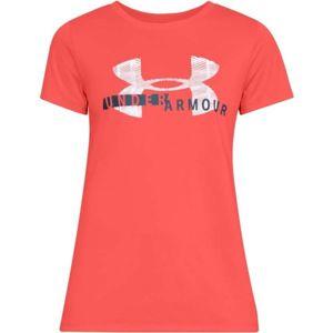Under Armour TECH SSC GRAPHIC červená S - Dámske tričko