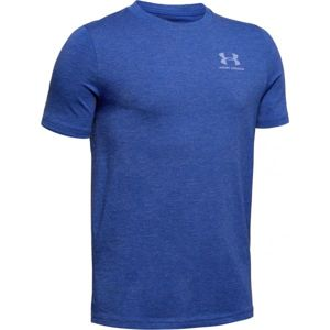 Under Armour EU COTTON SHORT SLEEVE modrá S - Chlapčenské tričko