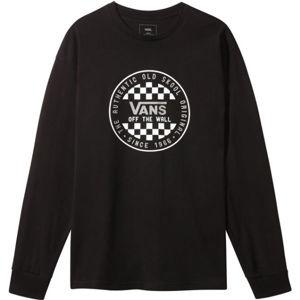 Vans MN OG CHECKER čierna M - Pánske tričko s dlhým rukávom
